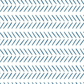 navy blue inky herringbone