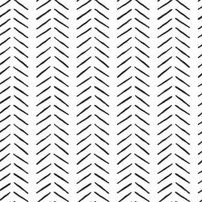 black and white inky vertical herringbone