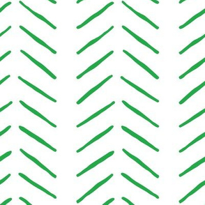 green inky vertical herringbone | large scale