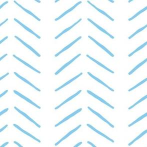 light blue inky vertical herringbone   large scale