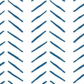 navy blue inky vertical herringbone | large scale