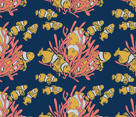Coral Offset Print fabric by rebeccamilburn on Spoonflower - custom fabric