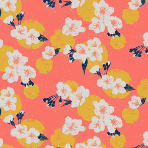 Cherry Blossom Dots - Coral