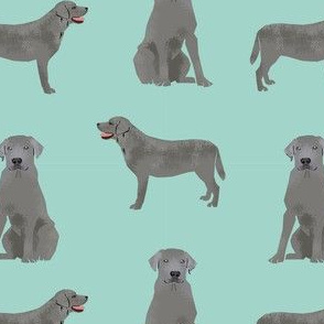 silver lab dog fabric - silver labrador, labrador fabric, silver lab fabric - blue