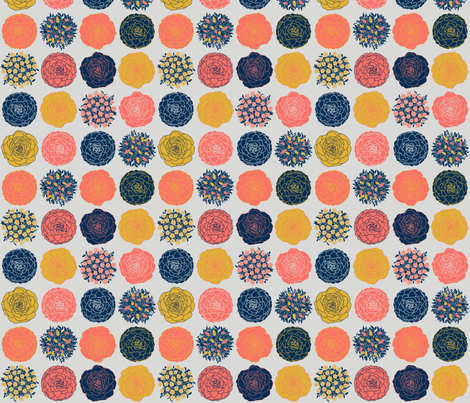 Kale, Cabbage, Pepper and Chrysanthemum fabric by dalymadecraft on Spoonflower - custom fabric