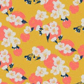 Cherry Blossom Dots - Yellow