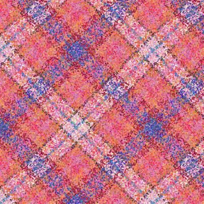 Tropical Paradise Pointillized Plaid in the Diagonal