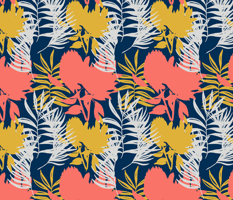 Coral Protea fabric by youdesignme on Spoonflower - custom fabric