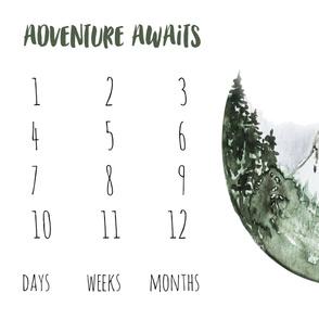 Adventure Awaits // Mountain Trek Baby Milestone Blanket Fabric