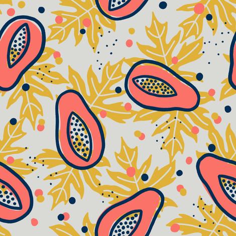 Delicious papaya fabric by kondratya on Spoonflower - custom fabric