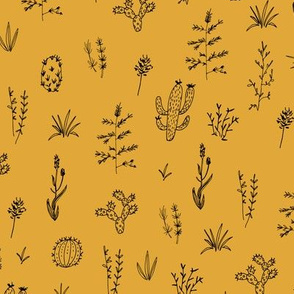 Prickly Meadow - Mustard