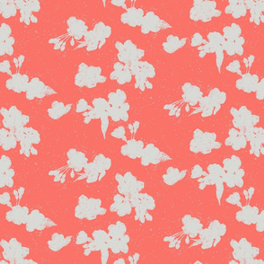Cherry Blossom Silhouette - Coral