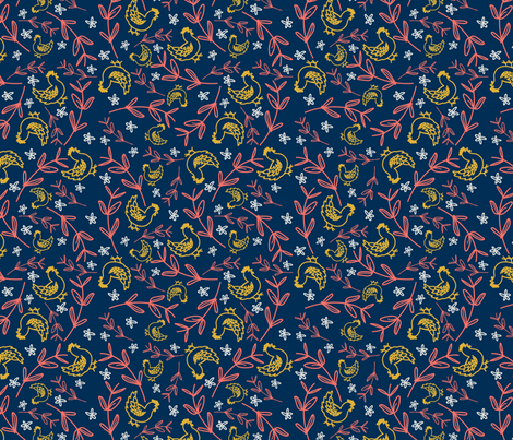 PantoneChickens fabric by what_the_actual_cluck on Spoonflower - custom fabric