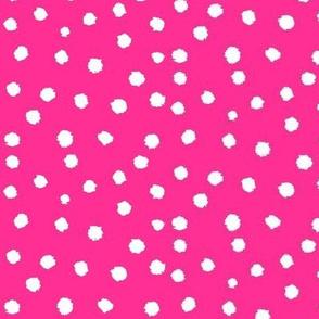 Painted Polka Dot //Magenta