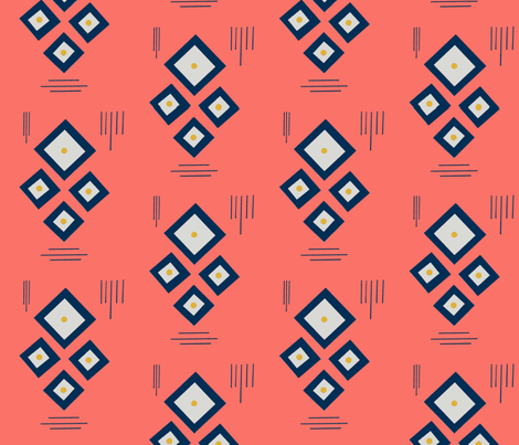Coral Squared fabric by atlas_&_tootsie on Spoonflower - custom fabric
