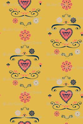 Hearts and Flowers Folk Art