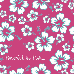 1014_Flower_Hibiscus_White _ Teal_Powerful in Pink_ Dk. Pink Background___ repeat  pattern_trimmed_1 Block.fw