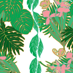 Tropical Greens Pink ginger