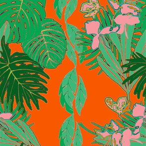 Tropical Greens Orange