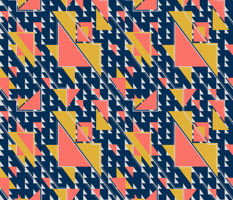 Saved by the Coral-Slater fabric by createlyn on Spoonflower - custom fabric