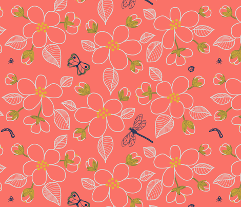 SF limited palette 2019 color of the year trimmed fabric by victorialasher on Spoonflower - custom fabric