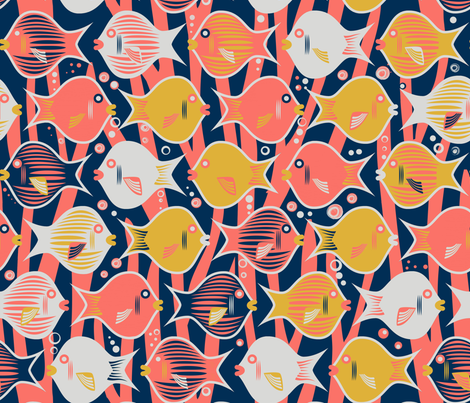 Coral Reef fabric by pichi on Spoonflower - custom fabric