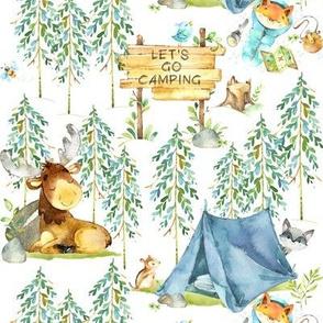 Camping Adventure - Woodland Moose, Fox, Raccoon