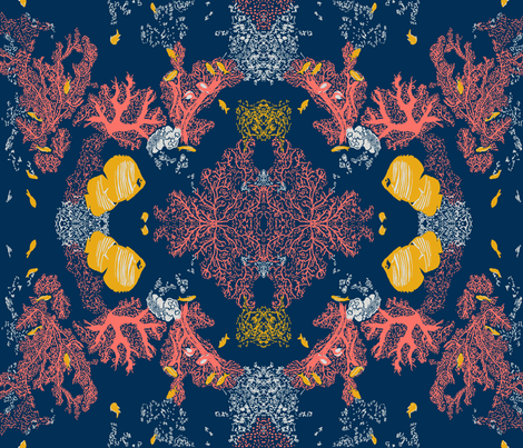 Living Coral Reef fabric by whimsicalvigilante on Spoonflower - custom fabric