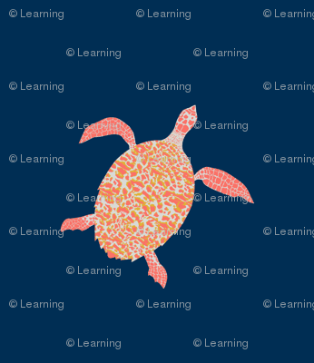 Hawksbill Sea Turtle - Limited Color Palette