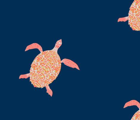 Hawksbill Sea Turtle - Limited Color Palette fabric by learning on Spoonflower - custom fabric