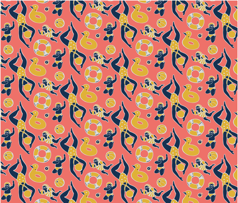 Coral Pool fabric by m_iapi on Spoonflower - custom fabric