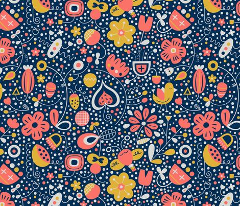 Funky-flowers fabric by la_fabriken on Spoonflower - custom fabric