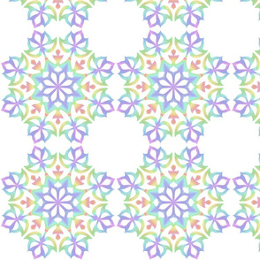 A colourful Snowflake Kaleidoscope