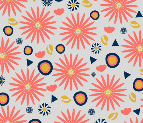 Coralee fabric by oceangirlcreativeco on Spoonflower - custom fabric
