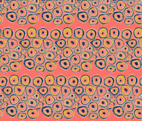 living coral limited colour challenge repeat fabric by fairytale_&_whimsy on Spoonflower - custom fabric
