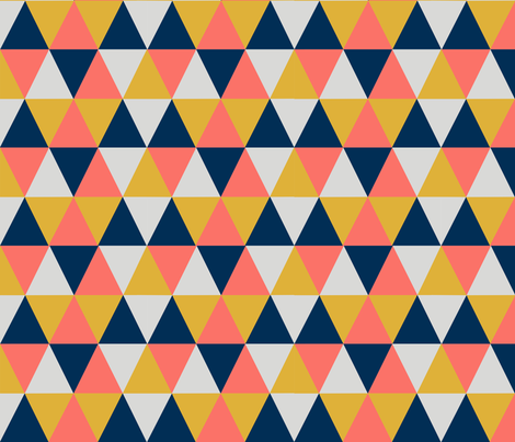Triangle- limited palette-12in.. fabric by suzb on Spoonflower - custom fabric