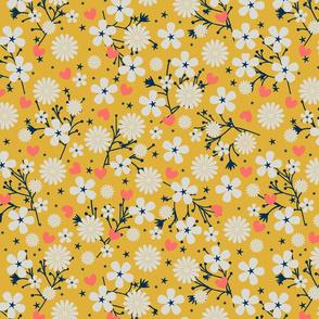 Dancing Blossom - Yellow (large print)