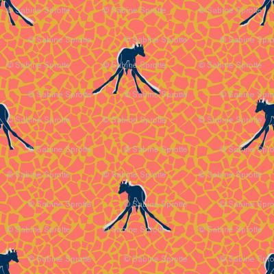 baby giraffes walk