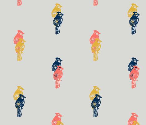 limited palette birds fabric by deborahi on Spoonflower - custom fabric