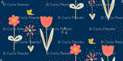 Pretty Posies Living Coral Limited Palette