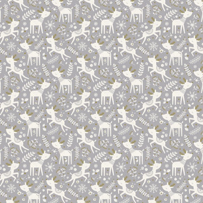 Scandi Reindeer Grey