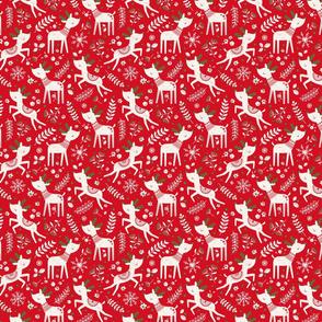 Scandi Reindeer Red