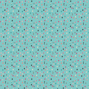 Cute geo pattern blue