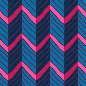 Multicolored chevron