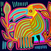 Mola - Caribbean Parrot Quilt