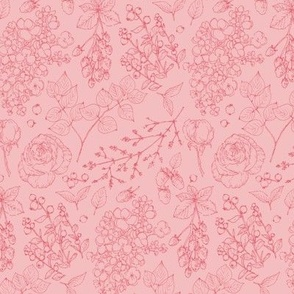 Caverly Smith Pink on Pink Floral