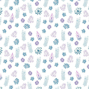 Pink blue meadow