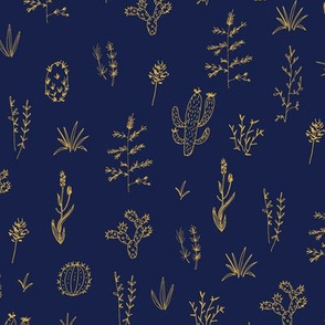 Prickly Meadow - Navy
