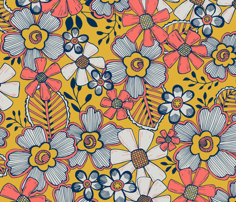 LCP_Fanciful Flowers fabric by palifino on Spoonflower - custom fabric