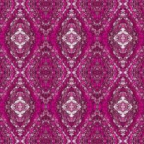 Hot Pink Damask Rock Crystals